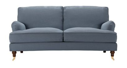 Bluebell 2.5 Seat Sofa in Loch Brushed Linen Cotton