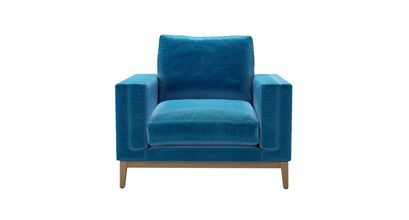 Costello With Wooden Plinth Armchair