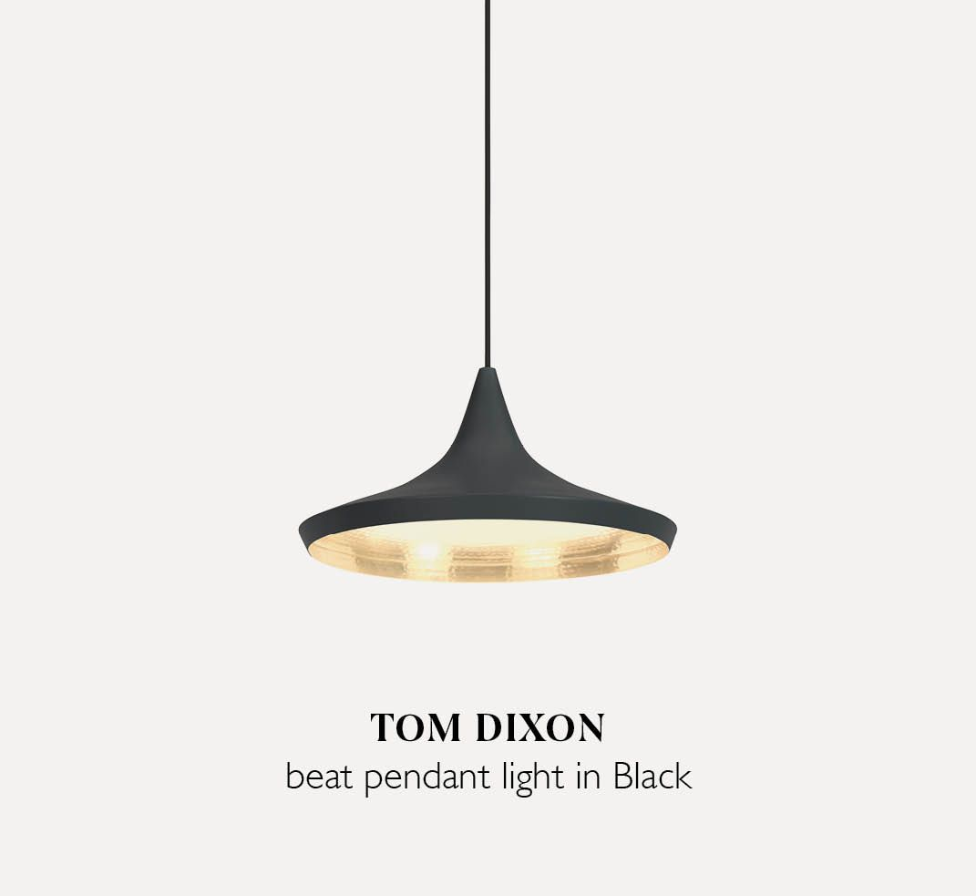 Tom Dixon Beat Wide light pendant in Black