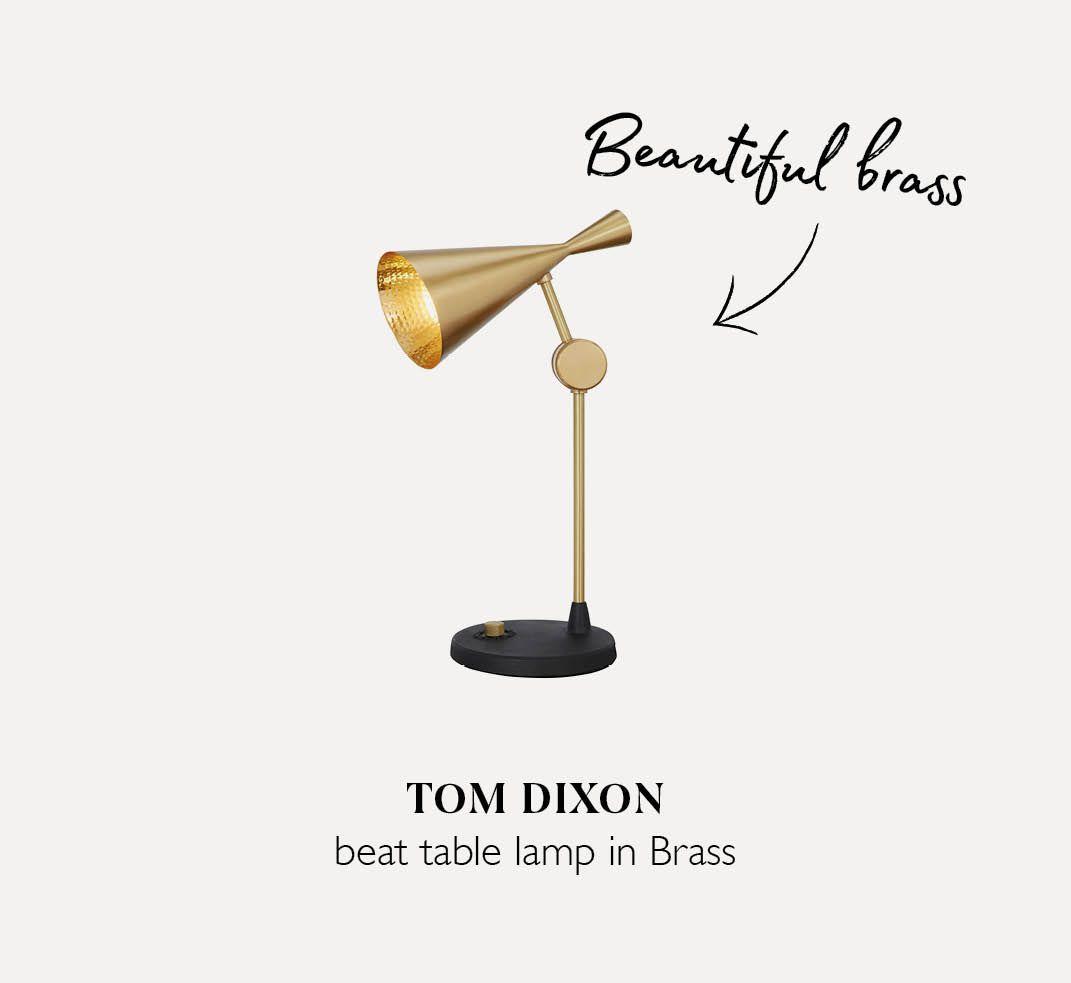 Tom Dixon table lamp in Brass